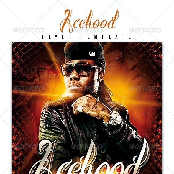 Acehood Rap Hip Hop flyer