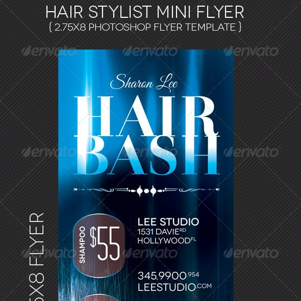 Hair Stylist Mini Flyer Template