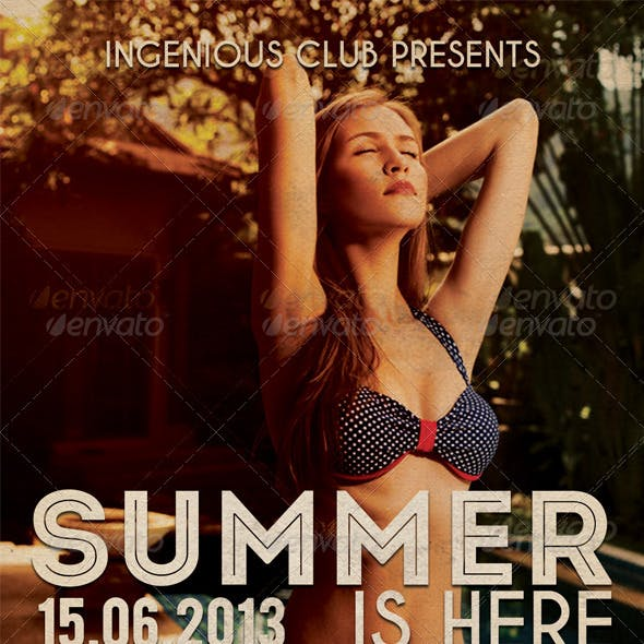 Summer Is Here- Flyer Template
