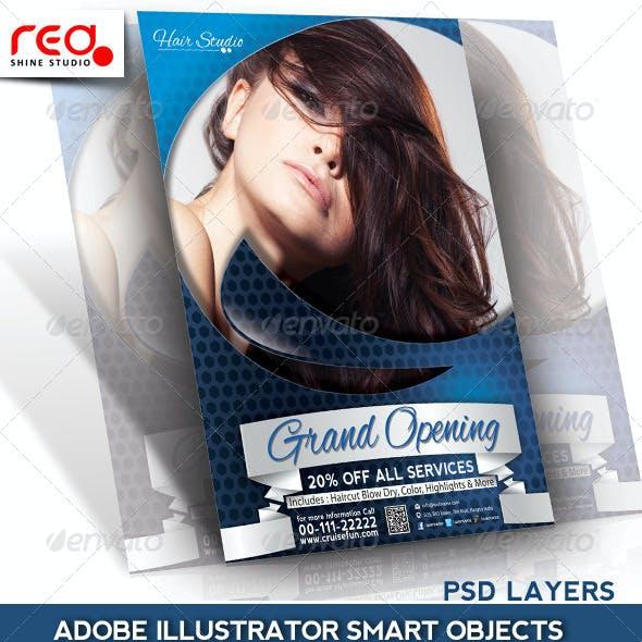 Hair Dresser Flyer/Poster Magazine Template