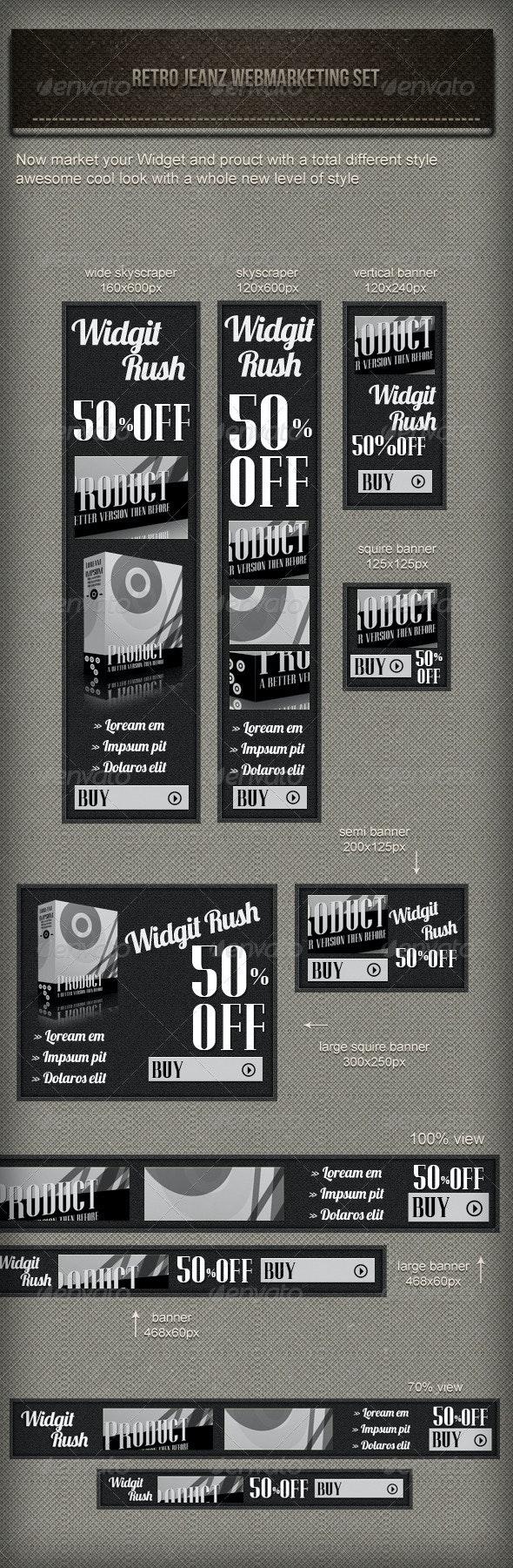 Retro Jeans Web Marketing Set