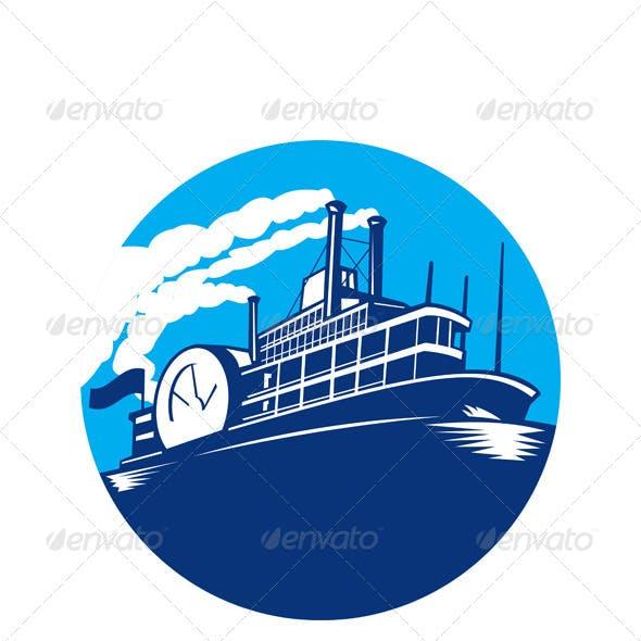 Steamboat Ferry Passenger Ship