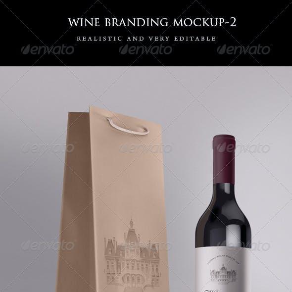 Wine Bag and Bottle Mock-up