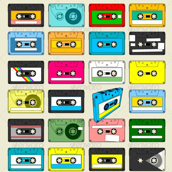 Audio Cassette Tape Wallpaper