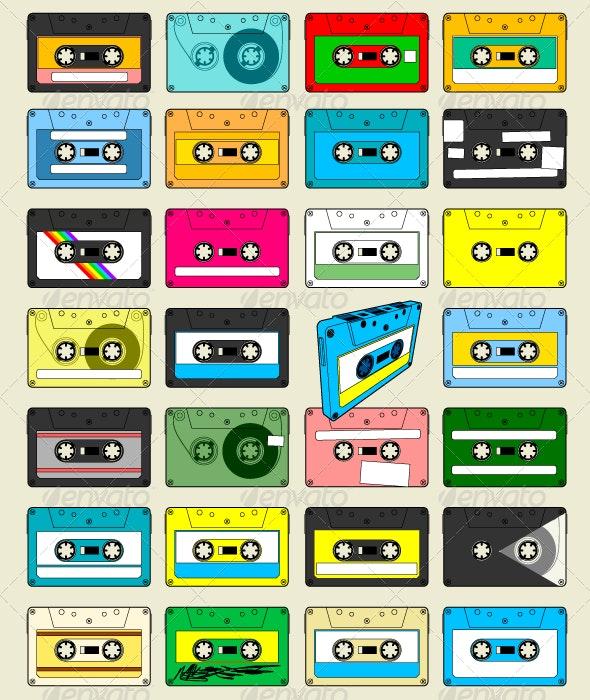 Audio Cassette Tape Wallpaper - Retro Technology