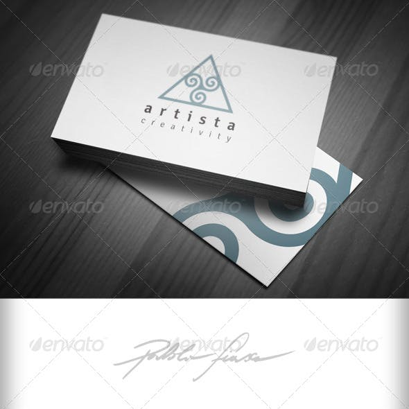 Triangle with Spirals Creative Logo -  Swirl Logo