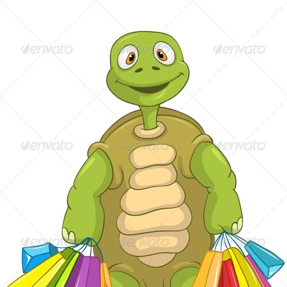 Turtle. Shopping.