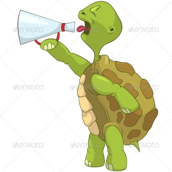 Turtle. Screaming. - Animals Characters