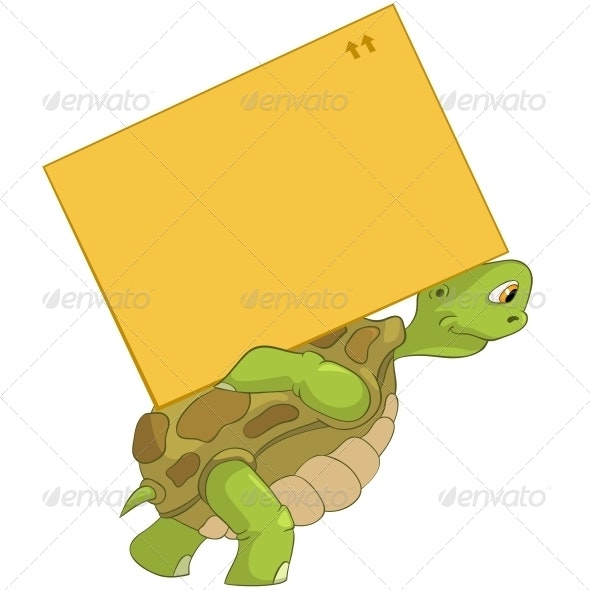 Turtle. Delivery. - Animals Characters