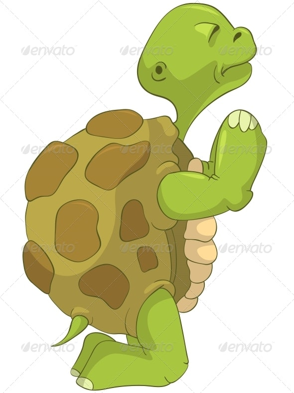 Turtle. Pray. - Animals Characters