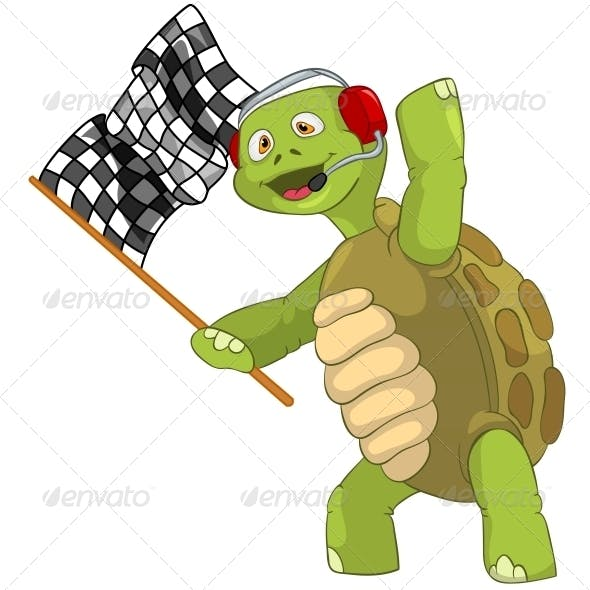 Turtle. Race Finish.