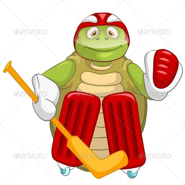 Turtle. Hockey Goalie.