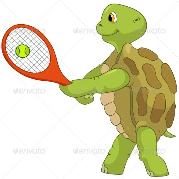 Turtle. Tennis Player.
