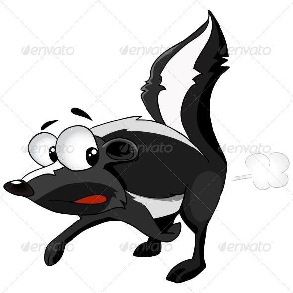 Cartoon Character Skunk
