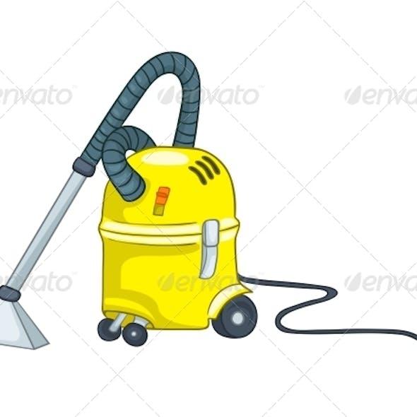 Cartoon Appliences Vacuum