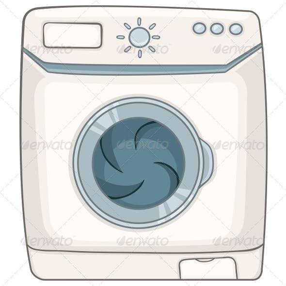Cartoon Appliances Washing Machine