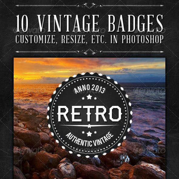 10 Vintage Badges