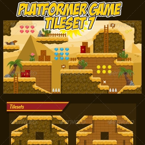 Platformer Game Tile Set 7