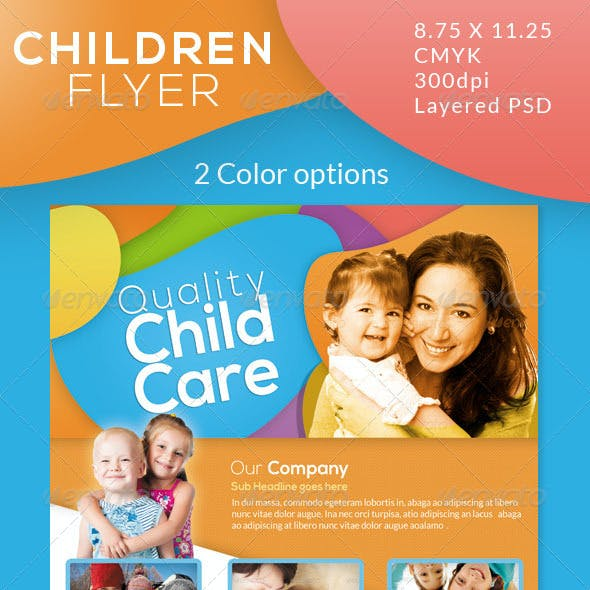 Children Care Flyer/ Magazine Ad