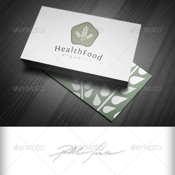 Organic Health Food Logo - Natural Foods Logo