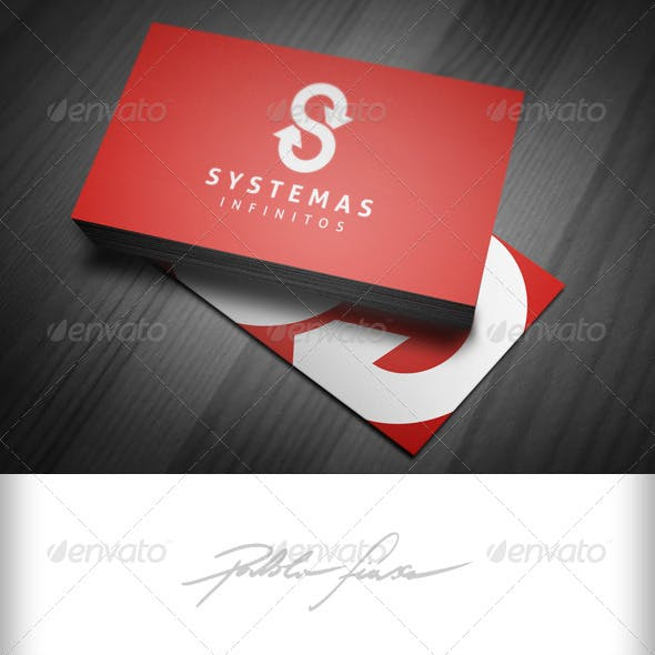 Letter S Infinity System Logo - Infinity Loop Logo