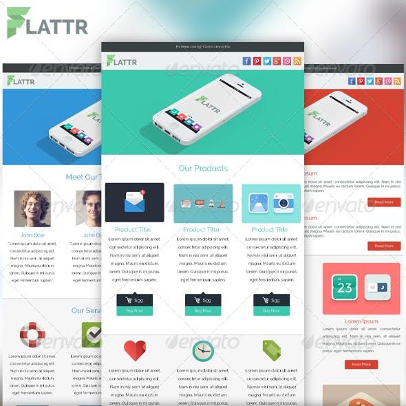Flattr - Flat Clean PSD Email Template
