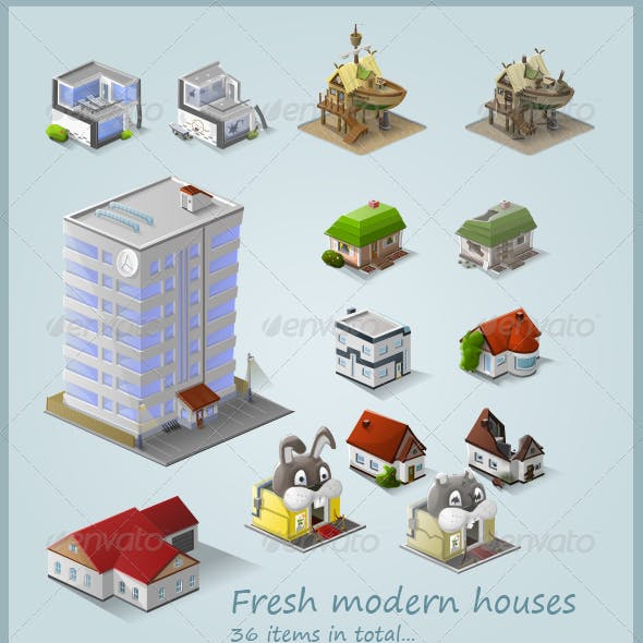 Stylised Building Icon Pack (36 items) - Part 2