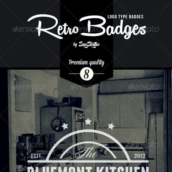Premium Quality - 8 Vintage Logo Badges