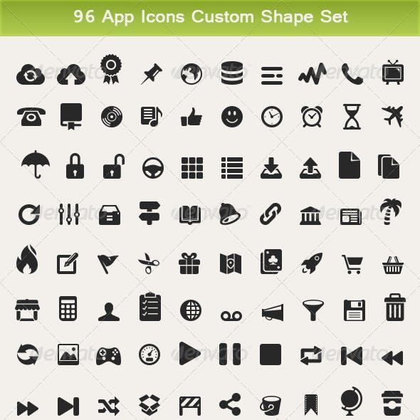 96 App Icons Custom Shape Set