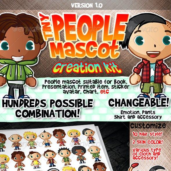 Tiny People Mascot Creation Kit : Male