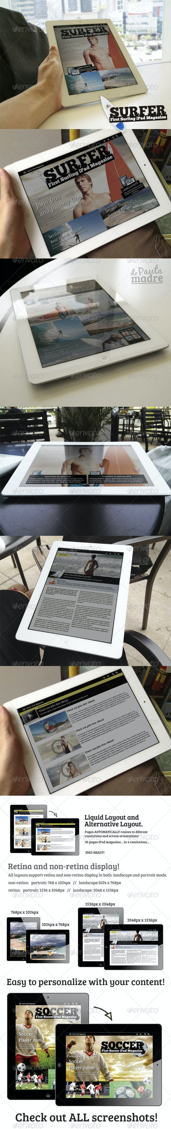 Exclusive Sports iPad Magazine in 4 Resolutions - Digital Magazines ePublishing