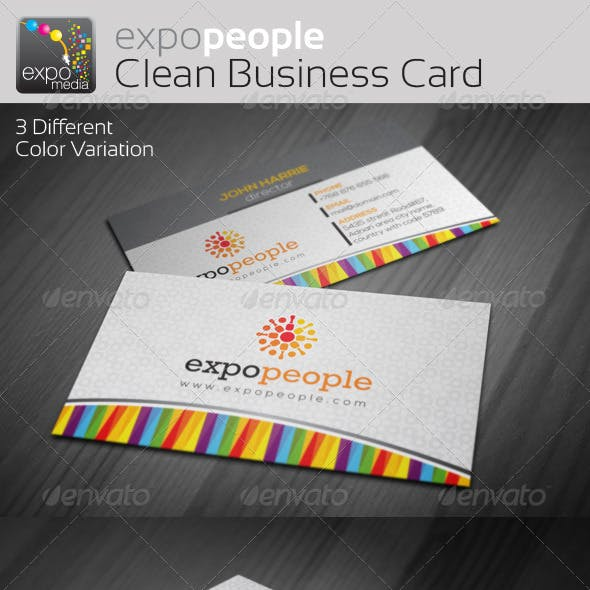 Expo People Corporate Clean Business Cards