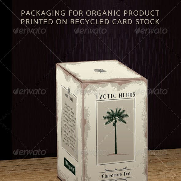 Organic Product Box on Recycled Card Stock