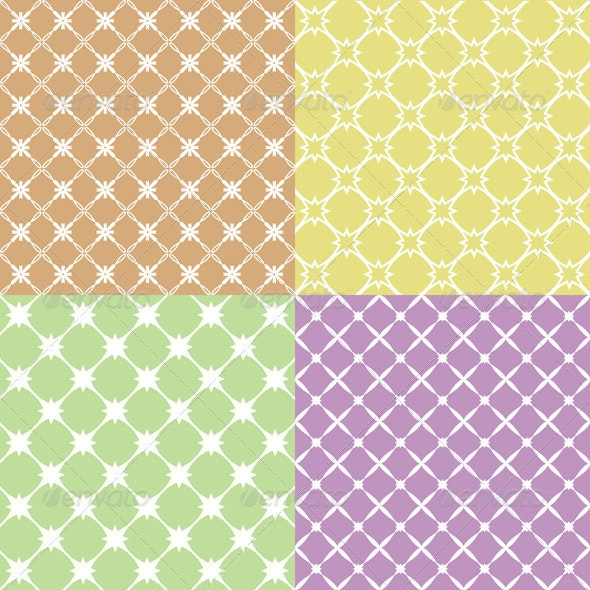 Vector Illustration of a Set of Abstract Patterns. - Patterns Decorative