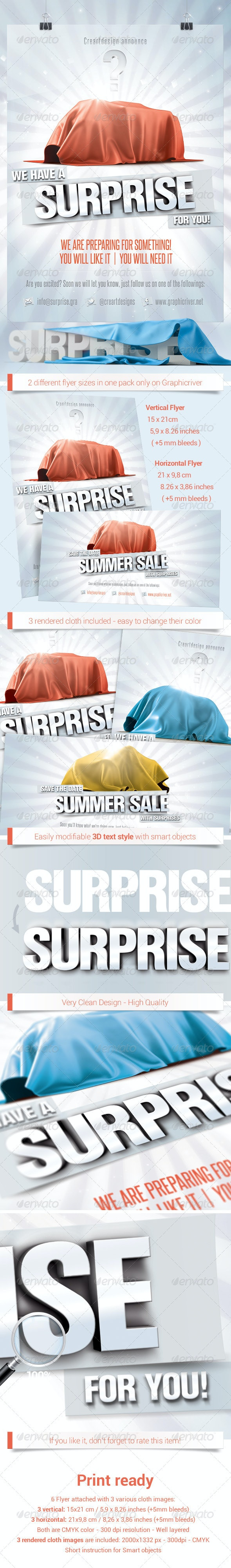 Upcoming Sales / Surprise Flyer - Events Flyers