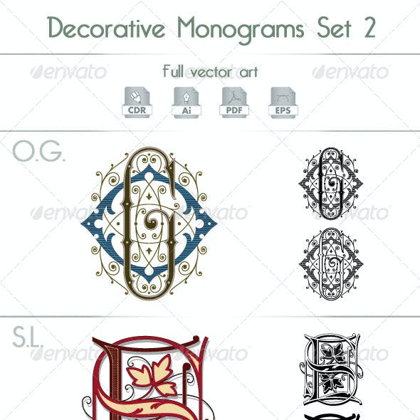 Decorative Monograms Set 2