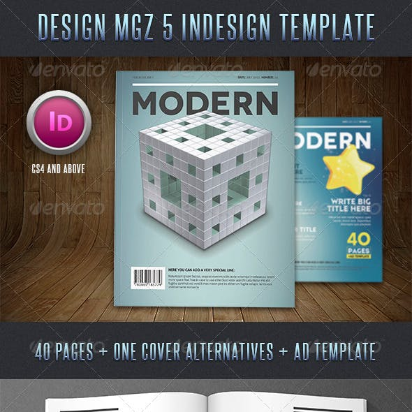 Design Magazine 5 Indesign Template