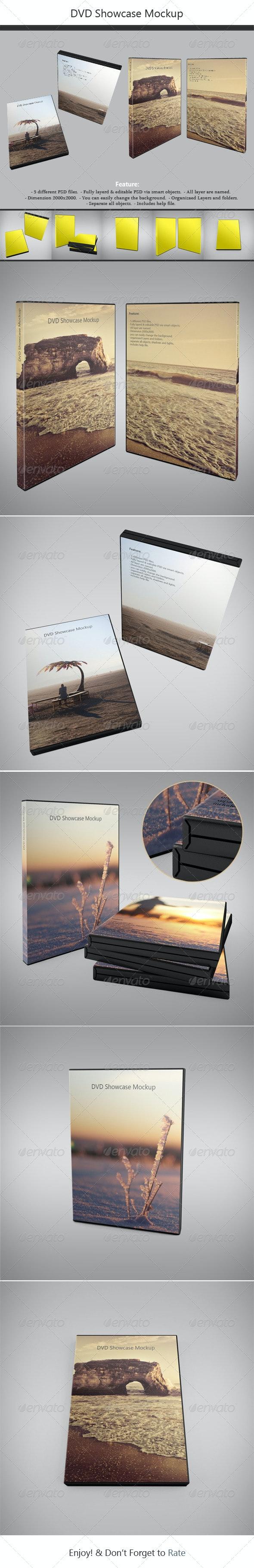 DVD Showcase Mock-up - Discs Packaging