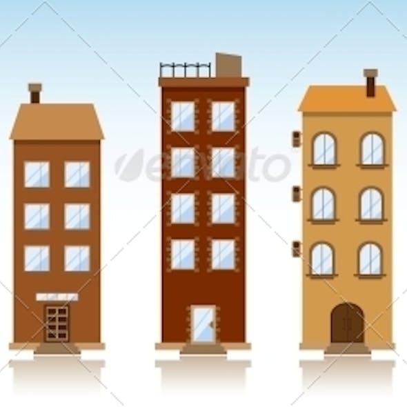 Seven Vector Buildings