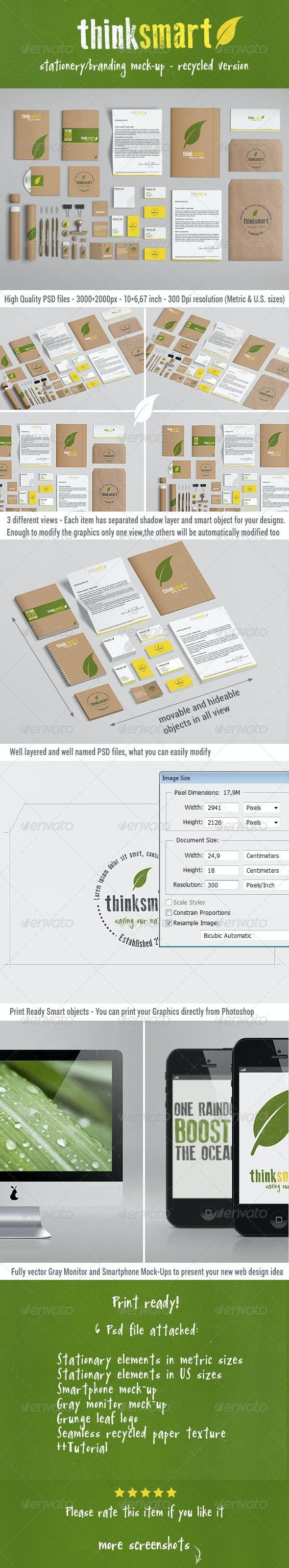 Branding / Identity Mock-Up – Recycled Version - Stationery Print