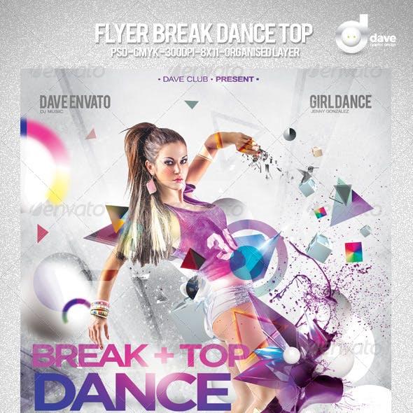 Flyer Break Dance Top Party