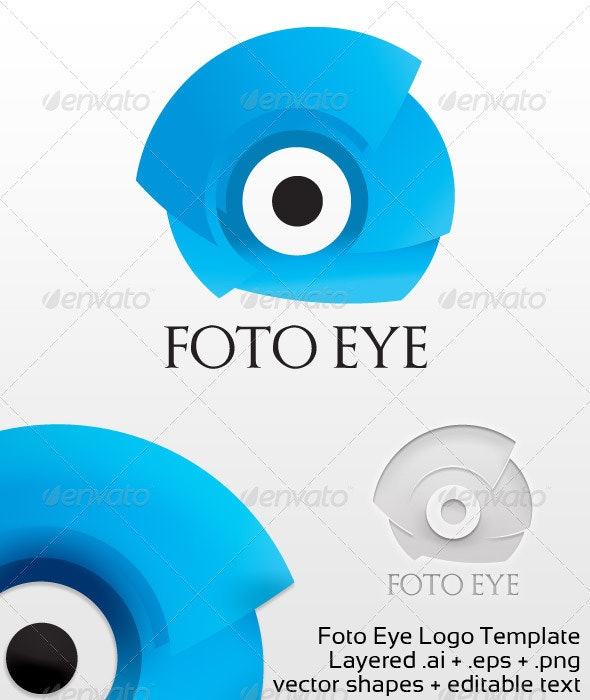 Foto Eye Logo Template - 3d Abstract