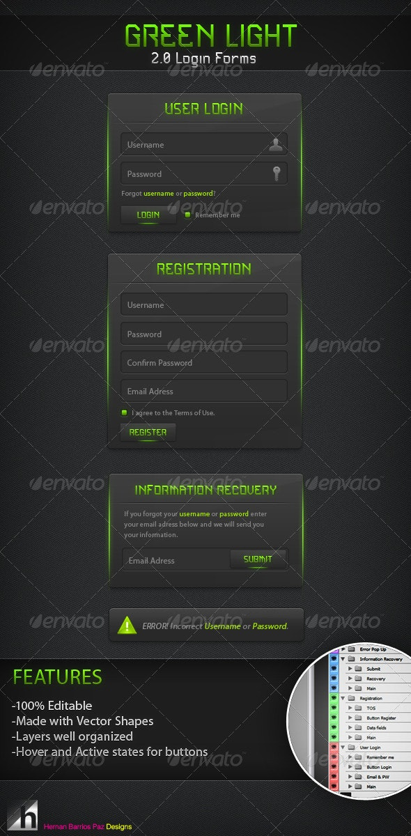 Green Light 2.0 Forms - Forms Web Elements