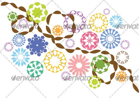 Flower Vectors Pack 2 - Flourishes / Swirls Decorative