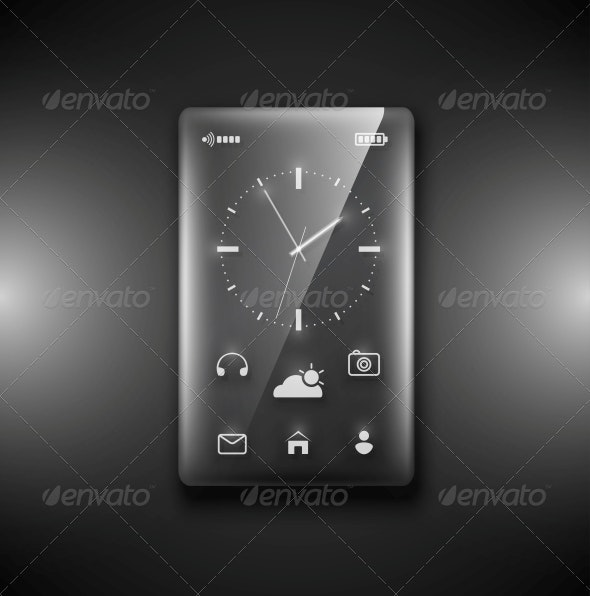 Transparent Glass Phone - Computers Technology