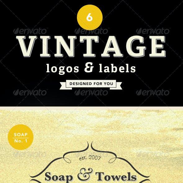6 Vintage Labels & Logos