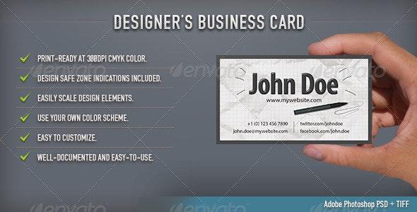 Designer's Business Card - Creative Business Cards