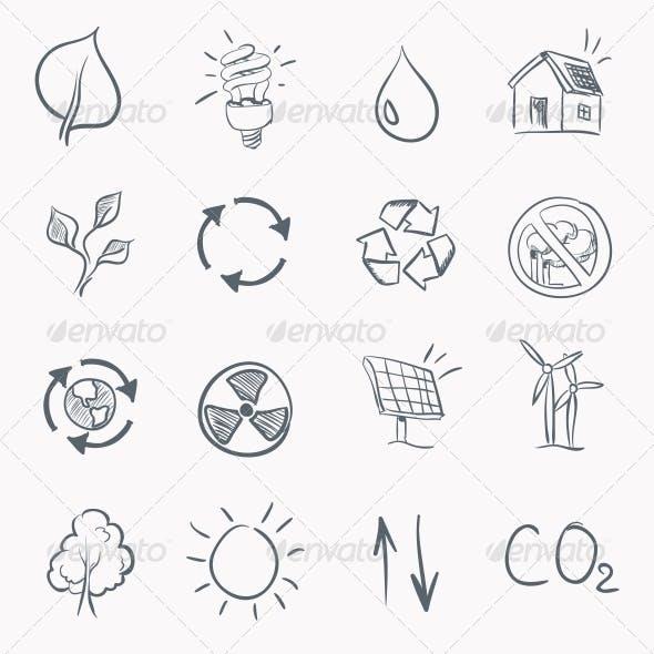 Eco Sketch Icon Set