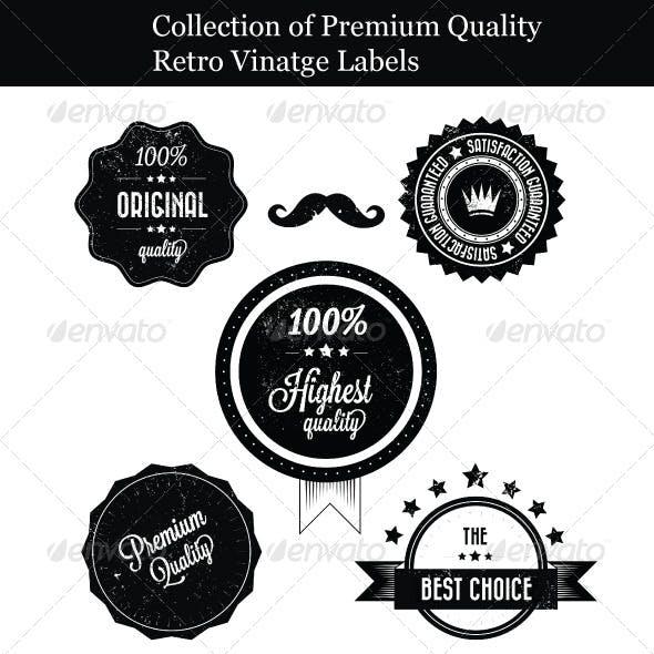 Collection of Premium Quality Retro Vinatge Labels