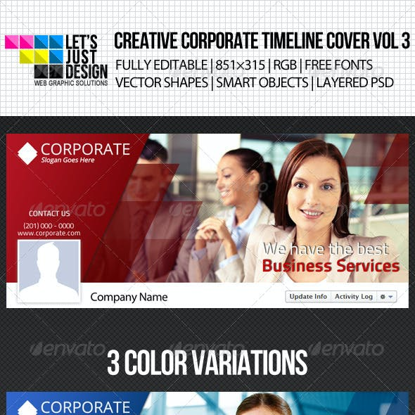 Creative Corporate Facebook Timeline Cover Vol 3